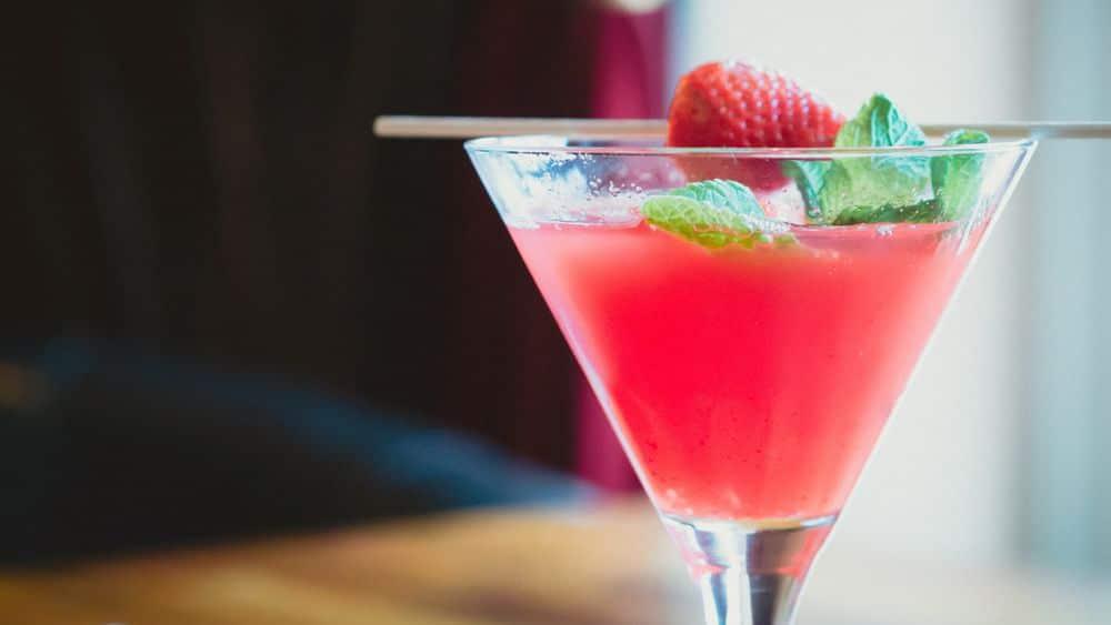 Spirit Bear Rhubarb Martini