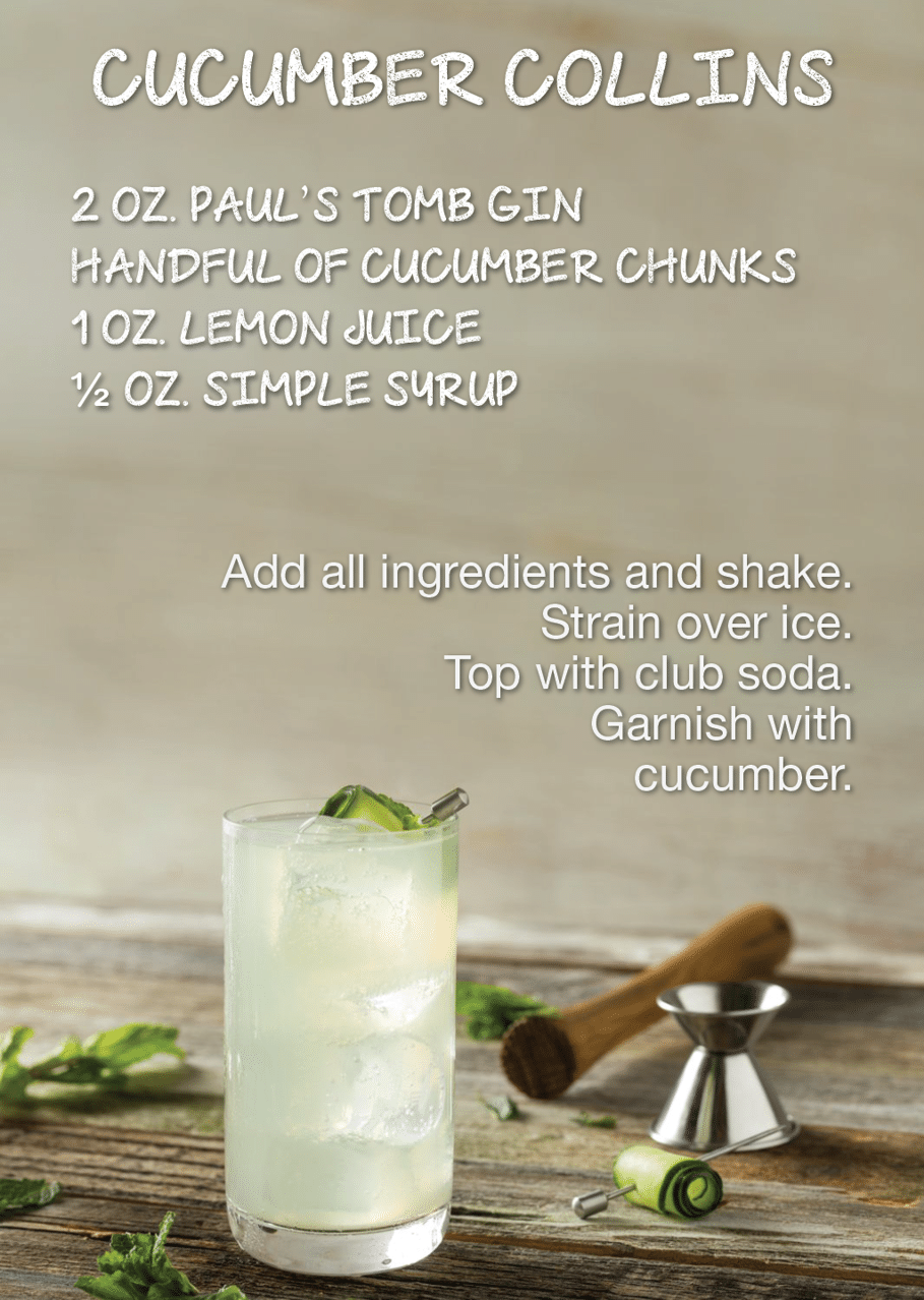 Urban Distilleries Cucumber Collins recipe
