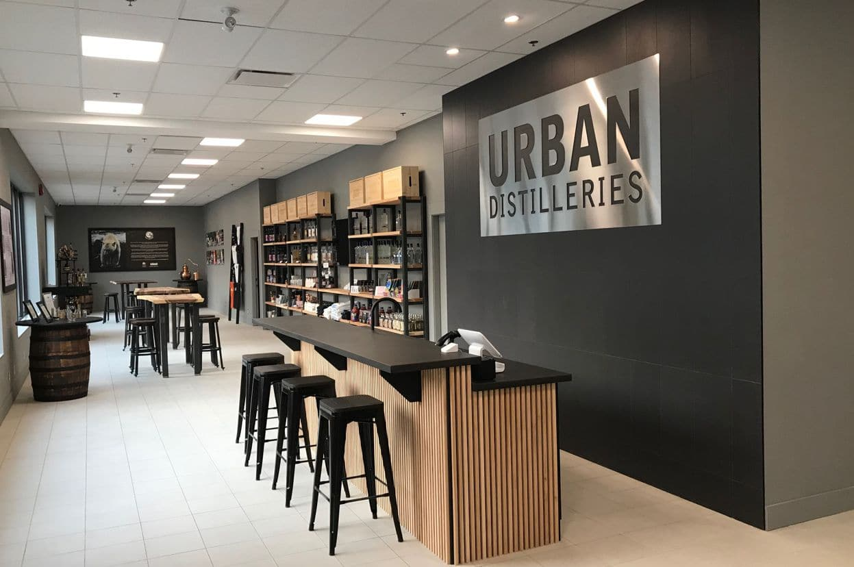 Urban Distilleries and Winery retail and tasting bar